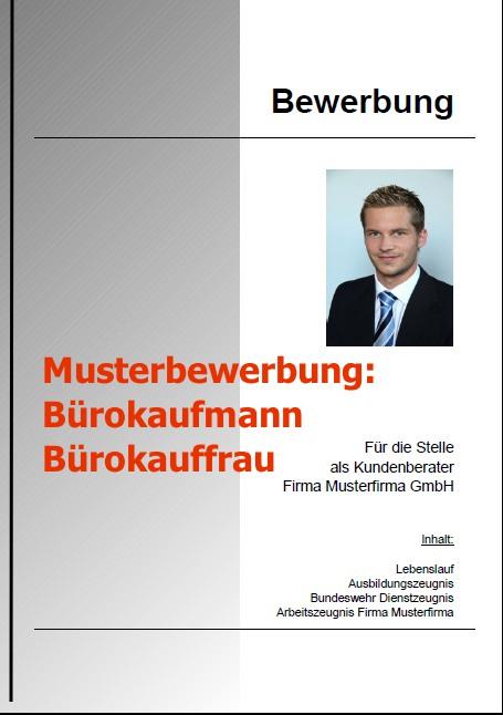 Bewerbung Bürokaufmann - Bürokauffrau