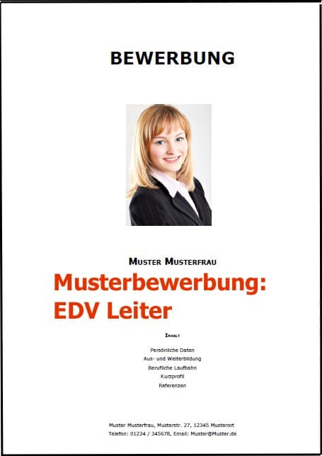 Bewerbung EDV Leiter (Bewerbung Download)