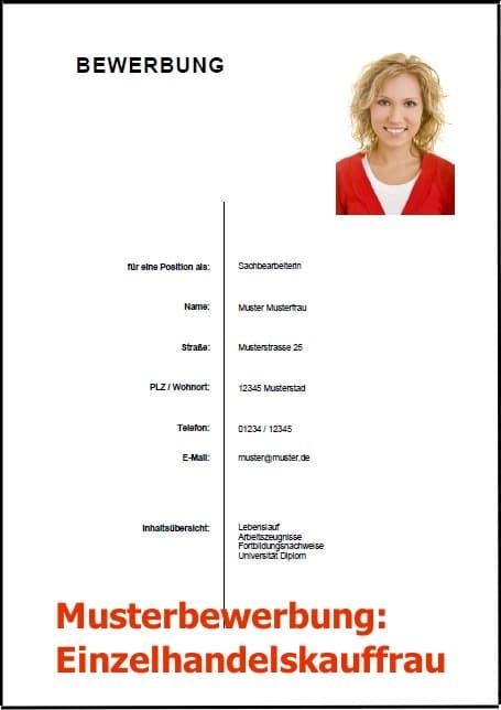 Bewerbung Einzelhandelskauffrau (Bewerbung Download)