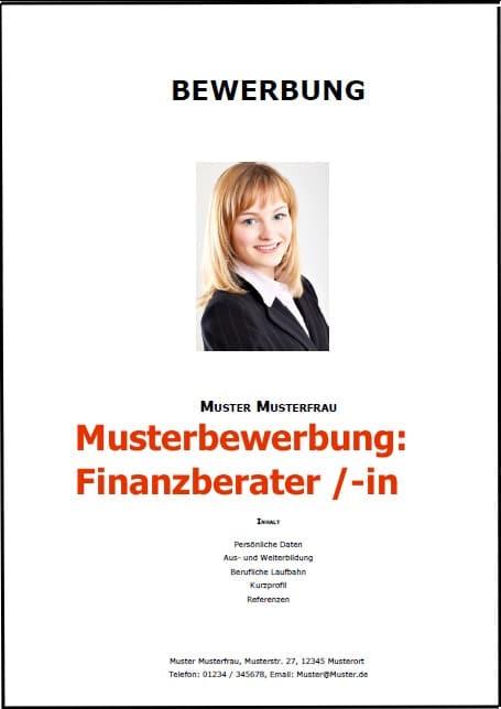 Bewerbung Finanzberater - Finanzberaterin