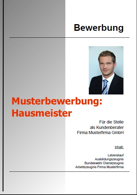 Bewerbung Hausmeister (Bewerbung Download)