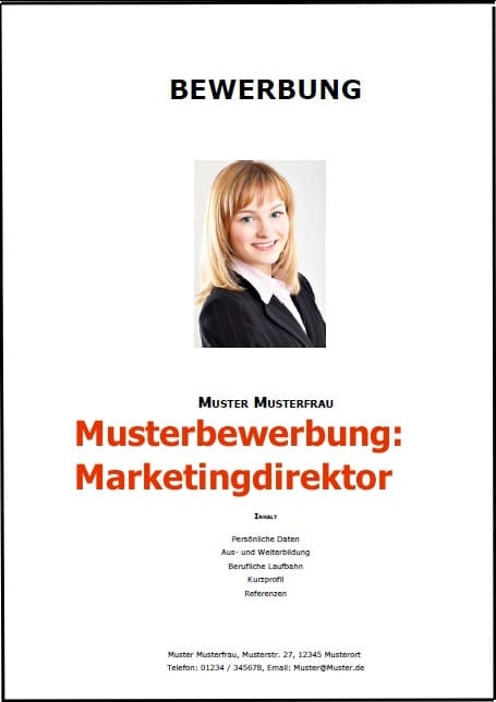 Bewerbung Marketingdirektor