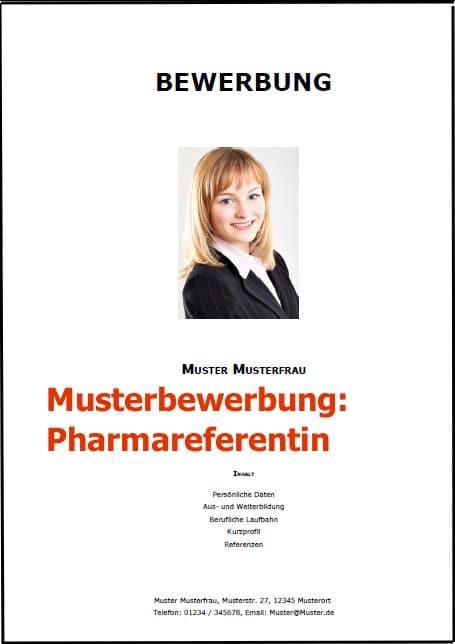 Bewerbung Pharmareferentin