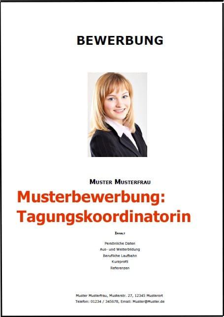 Bewerbung Tagungskoordinatorin
