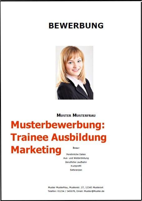 Bewerbung Trainee Ausbildung Marketing