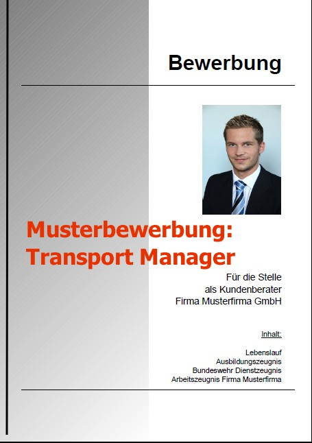 Bewerbung Transport Manager