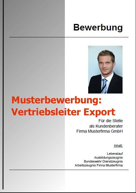 Bewerbung Vertriebsleiter Export Download