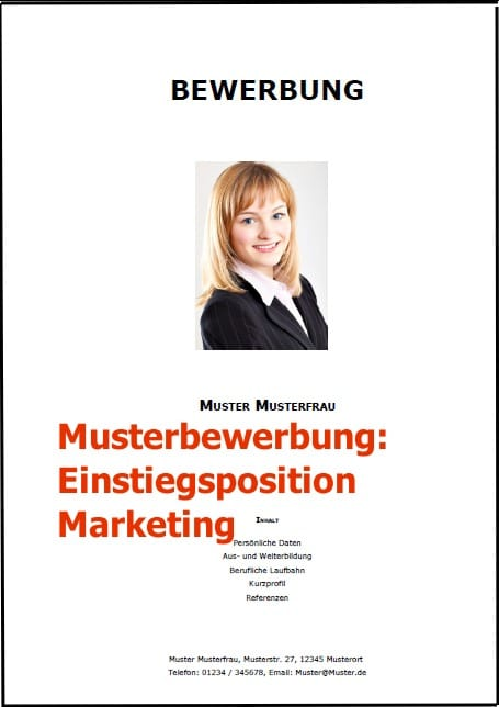 Einstiegsposition Marketing