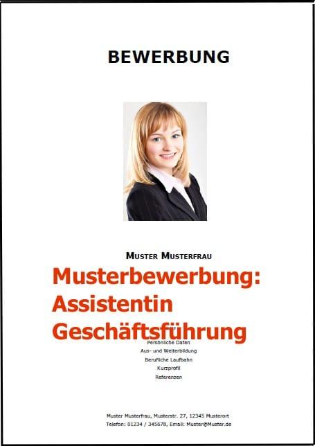 Bewerbung Assistentin Geschäftsführung